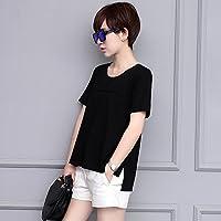 SLR Camiseta de Verano de Gran tamaño Camiseta Delgada de Manga Corta con Cuello Redondo y Manga Larga Abierta,Vino Tinto,XL