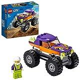 LEGO City Great Vehicles Monster Truck con Grandi Pneumatici e Decorazioni Coplorate, Contiene la Minifigure di 1 Pilota con Caso, set di Costruzioni per Bambini +5 Anni, Multicolore, 60251