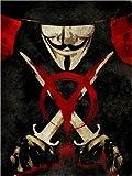 Posterlounge Leinwandbild 60 x 80 cm: V Pour Vendetta von Albert Cagnef - fertiges Wandbild, Bild auf Keilrahmen, Fertigbild auf echter Leinwand, Leinwanddruck
