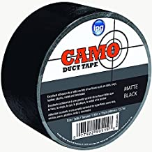 Intertape Polymer Group–Cinta blk30camo 9,1by 15-yard camuflaje cinta americana, Negro Mate