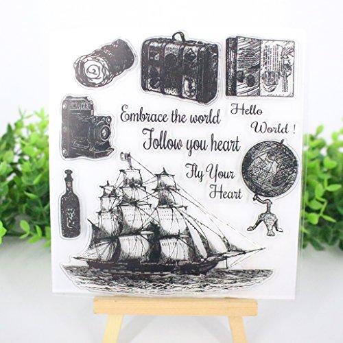 Bduco Transparente Stempel Blätter Transparente Silikondichtung für DIY Scrapbooking Karten machen Fotoalbum Deko Segelboot