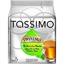 Tassimo Twinings Té verde y Menta, Paquete de 5, 5 x 16 T-Discs