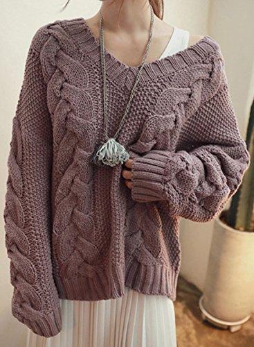 Azbro -  Maglione  - Maniche lunghe  - Donna Purple