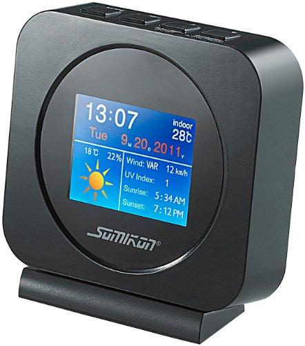 Somikon Internet-Wetterstation mit Farb-TFT, Dia-Show und Wecker