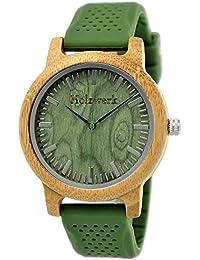 Henny pequeño Designer Unisex Mujer Hombre Certificado Madera Natural Reloj de pulsera reloj con correa ·