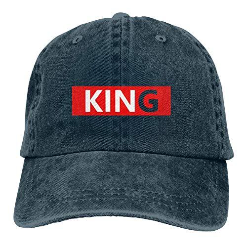 Kostüm Hunde Astro - Xdevrbk King Unisex Washed Adjustable Vintage Cowboy Hat Denim Baseball Caps Fashion18