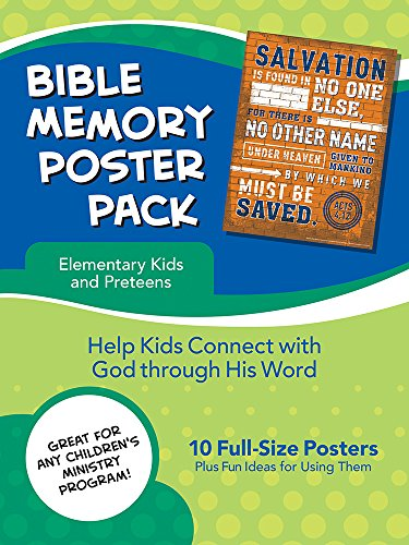 Bible Memory Poster Pack for Elementary Kids and Preteens: 10 Full-size Posters