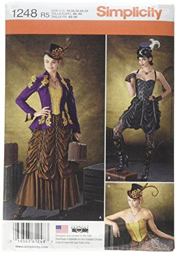 �ße R5Schnittmuster Steampunk Kostüme Schnittmuster, mehrfarbig (Historisches Herren Kostüm Muster)