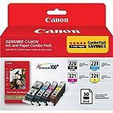 Best Combos Scanner Imprimante - Canon PGI-220/CLI-221 Combo + PP-201 - kits d'imprimantes Review