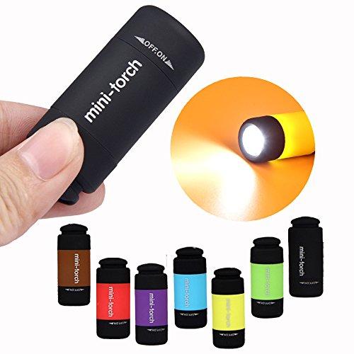 Mini USB Taschenlampe Schlüsselanhänger Ulanda-EU mini flashlight LED Camping Schlüsselring Taschenlampe,Bewegliche dünne & Kleine grelle helle Fackel Lampen-Schlüsselkette, 25 lumen micro Licht (7pcs/set)