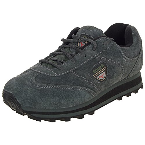 Lakhani Men's Grey Leather Running Shoes (8 Uk)