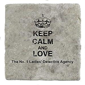 agencia de diseño: Keep Calm and Love The No. Posavasos de mármol para bebidas, diseño de la Agenci...