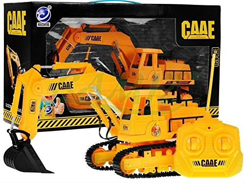 Digger 8302A - Bagger inkl. Fernsteuerung - Spielzeugbagger - Kinderbagger - Schaufelbagger - Raupenbagger - Baufahrzeuge Spielzeug - Baufahrzeuge Ferngesteuert