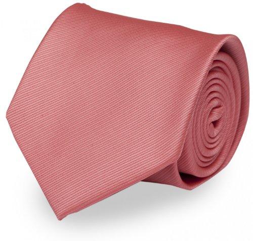 Fabio Farini klassische 8 cm Krawatte in altrosa, passt zu fast jedem Anzug