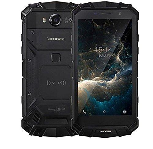 DOOGEE S60Rugged entsperrt 4G Smartphone, 13,2cm Wasserdicht Heliotrop P25Octa-Core 6GB + 64GB Handy 5580mAh Akku 21,0MP Kamera NFC GPS Metall Rahmen Smartphone, SIM Handy schwarz