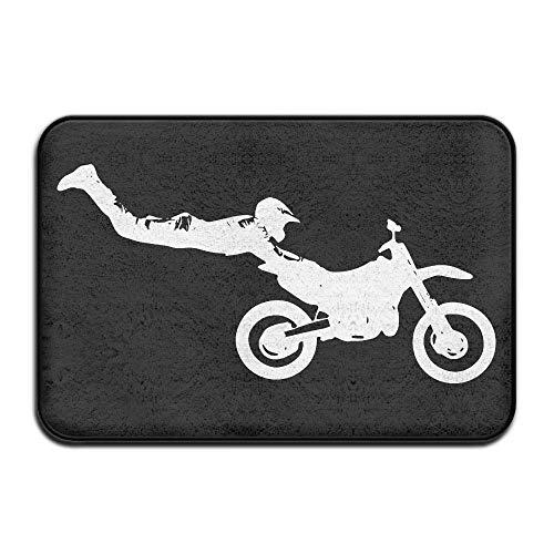 """DDHHFJ Bike Motorcross Non-Slip Indoor/Outdoor Door Mat Rug for Health and Wellness Bathroom Entrance Rug 23.6""""x 15.7"""""""