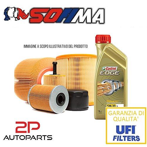 Kit tagliando auto, kit quattro filtri e 6 litri olio motore Castrol Edge 5W30 (KF0030/so_c)