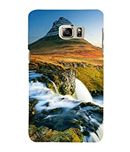 printtech Scenic Waterfall Green Mountain Back Case Cover for Samsung Galaxy Note 5 Edge::Samsung Galaxy Note 5 Edge 2