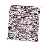 B Blesiya 3D Vliestapete Tapete Holzoptik Steinoptik Steinwand Wandtapete Mauer, Industrie-Stil - Alte Wand