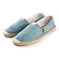 Alexis Leroy Lightweight Comfortable Flat Espadrilles for Men Canvas Espadrilles Blue 43 EU / 9 UK