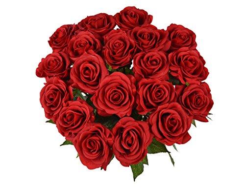 Yidarton Rosen 10 Stück Real Touch Schöne Echtes Moisturizing Curling Knospe Latex künstliche Rose Kunstblumen Blume Dekoration Blumenstrauß Blumenarrangement