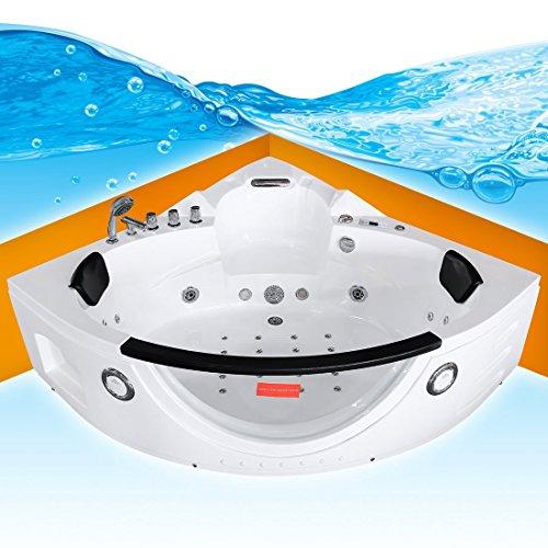 Whirlpool Pool Badewanne Eckwanne Wanne A1506H-ALL 152x152cm Reinigungsfunktion, Selfclean:aktive Schlauch-Reinigung +90.-EUR Der Wasserfall Am Pool Pumpe