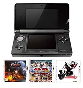 Nintendo Handheld Console 3DS - Black 3 Game Pack (Nintendo 3DS)