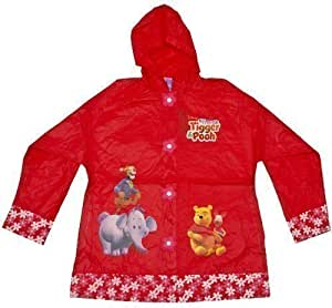 Kids Disney Winnie The Pooh Raincoat (Size 2 (5-6), Red)