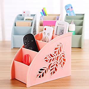 Cwaixx Multi Purpose Cut Leaf Shaped Remote Control Storage Box Clutter Simple Living Room