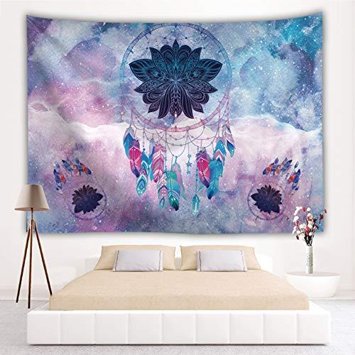 Galaxis - Tapiz de pared con atrapasueños, diseño indio, cielo estrellado, fantasía, tapiz de pared integrado 51 * 59in Pattern4
