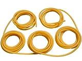 GM&BW 10m, 1.7X4.5mm Fionda Elastici Professionale - Gomma Elastico Tubolare in Lattice Naturale con Allungamento Massimo al 700% - Per Creare una Catapulta per la Caccia o la Competizione o Ricambio