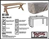 Raffles Covers RT280 Rechteckige Gartentisch abdeckhaube 280 x 100 cm Schutzhülle für rechteckigen Gartentisch, Abdeckhaube für Gartentisch, Gartenmöbel Abdeckung