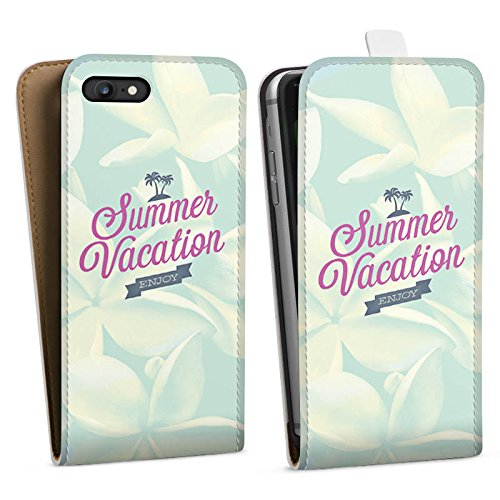Apple iPhone X Silikon Hülle Case Schutzhülle Sommer Urlaub Sprüche Downflip Tasche weiß