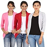zalula Womens Spantex Red Pink Grey Shru...