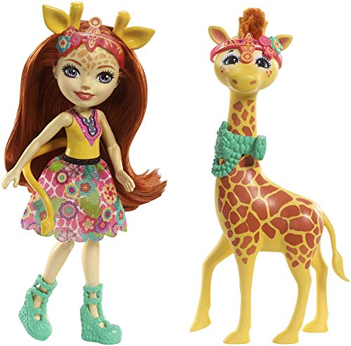 Enchantimals Muñeca con mascota Gillian Giraffe (Mattel FKY74)