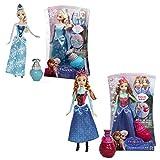 Mattel BDK32 BDK33 Disney Princess Anna & Elsa Farbwechsel Zauber Frozen Puppe
