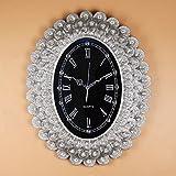 ZHDC® Parete Orologi Orologio e orologi retro del pavone Orologio da tasca Soggiorno orologio creativo di arte Diamante Orologio da parete Mute Home wall clock ( Colore : #2 , dimensioni : 64*50cm )