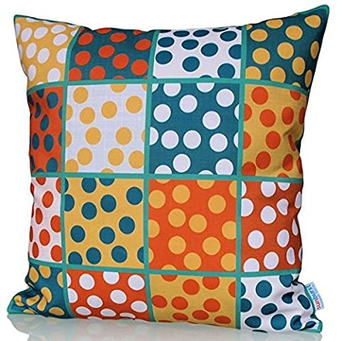 Sunburst Outdoor Living 45cm x 45cm EMBRACE Square-Dot Pattern Decorative Throw Pillow Cushion Cover for Couch, Bed, Sofa or Patio - Only Case, No Insert