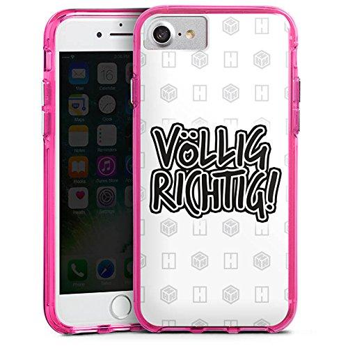 Apple iPhone X Silikon Hülle Case Schutzhülle der_hacki Fanartikel Merchandise völlig richtig Bumper Case transparent pink