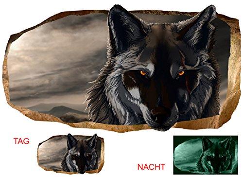 Startonight 3D Tapete Wolf, Wandmalerei Bild an der Wand Großformat Modern Muster Dekorative Kunst Wand 120 x 220 CM