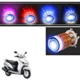 #10: Vheelocityin Multicolor H4 Motorcycle Bulb with Angel Eye Ring For Honda Activa 3G