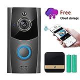 Wireless Video Doorbell, Innotic Free Cloud Storage Smart Doorbell with Chime, 720P HD