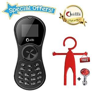 Chilli Spinner Phone World's Slimmest Mobile Phone Cum Spinner Credit Card Sized - Black