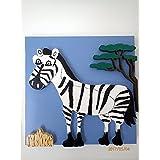 Quadro per bambini zebra