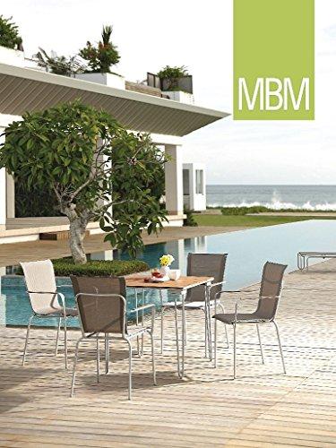 MBM Schmiedeeisen Resysta Sitzgruppe Papillon/Gartentisch/Sitzgruppe/Terrassentisch/Balkontisch