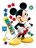 1art1 59330 Walt Disney - Micky Maus, Big Star Wand-Tattoo Aufkleber Poster-Sticker 85 x 65 cm