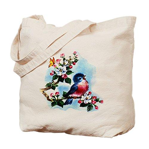 (CafePress–Cute Bluebird singt–Leinwand Natur Tasche, Reinigungstuch Einkaufstasche, canvas, khaki, S)