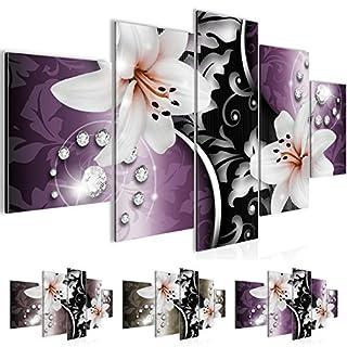 Bild 200 X 100 Cm   Lilien Bilder  Vlies Leinwand   Deko Für Wohnzimmer