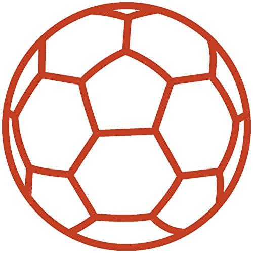 Samunshi® Autoaufkleber Handball Aufkleber in 9 Größen und 25 Farben (10x10cm kupfermetalleffekt)