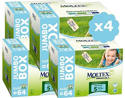 Moltex Windeln Gr. 5Junior Pack Ultra Eco-11/25kg-Lot de 4-256Windeln Einweg